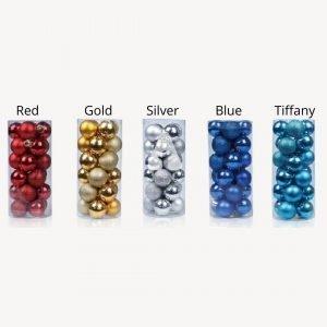 8cm Baubles Colors