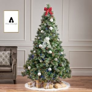 Firneese - Premium Cashmere Pine Artificial Christmas Tree - display