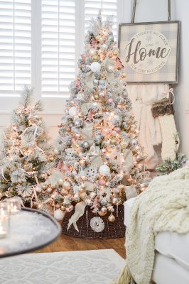 flocked faux artificial christmas tree