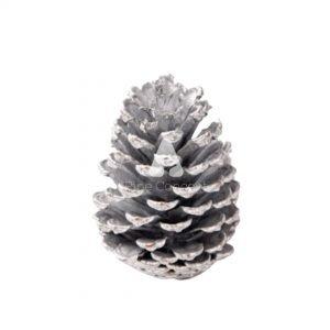 2.5 Inch Silver Pinecone