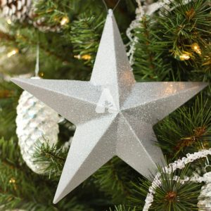 Angelica - Silver Christmas Tree Star Ornament