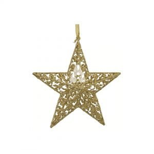 Deluxe - Gold Christmas Star Ornament