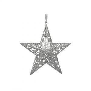 Deluxe - Silver Christmas Star Ornament
