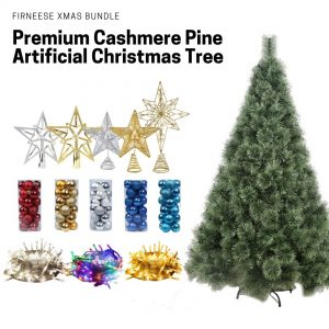 Firneese artificial christmas tree bundle