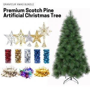 Granfeur artificial christmas tree bundle