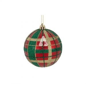 Red Tartan Christmas Ornament