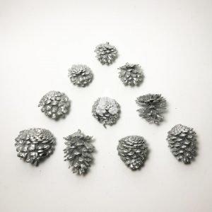 Silver Mini Pine Cones