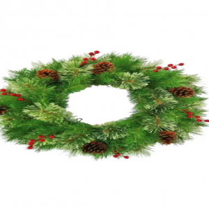 Barry - Artificial Pinecone and Berry Decorated Wreath