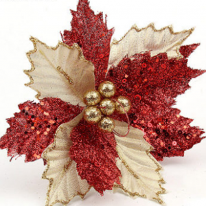 Magnum - Red and Gold Poinsettia